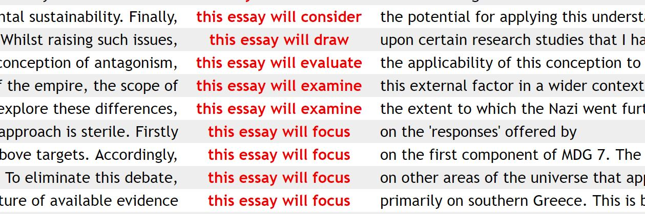 What is a tag in a essay